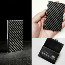 Business Carbon Fiber & stainless steel box Card Wallet Credit Card Holder Bag