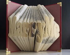Marry Me Folded Book Art. Proposal. Book Origami Keep sake Love question.