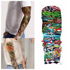 Temporary Tattoo sleeve Alice in Wonderland Metall Stickers Body Art Waterproof