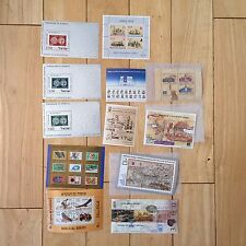 G35 LOT Israel Stamps loose souvenir Holy Land Exhibition Biblical Birds David
