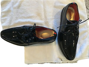 Mens Black Patent Leather Oxfords Dress Shoes See Photo For Size