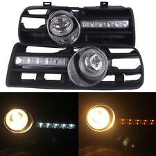 2Pcs/Set Front GRILLE LED FOG LIGHT LAMP FOR VW BORA MK4 99-04 Grill White