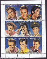 Elvis Presley 1935-1977 Unmounted Mint Stamp Sheet from Tanzania