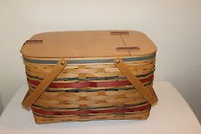Longaberger Tour With Me - American Celebrations Picnic Basket - New - Rare!