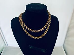 VTG. MONET JEWELERS GOLD TONE CHUNKY 2-CHAIN NECKLACE