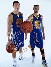 KLAY THOMPSON STEPHEN CURRY #2 REPRINT SIGNED 8X10 PHOTO GOLDEN STATE WARRIORS