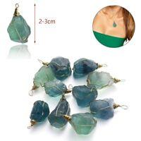 2.5-3cm Healing Stone Crystal Quartz Natural Fluorite Pendant Gemstone