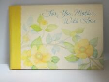 For You, Mother, With Love Hallmark Poem Book Mother's Day
