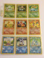 Pokémon Classic Rare Cards - Charizard - Blastoise - Venusaur Original Holofoils