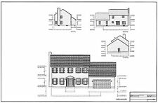 Full Set of two story 3 bedroom house plans 2,090 sq ft