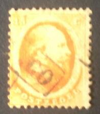 timbre pays bas n°6, 15c orange, Obl, TB, cote 125e