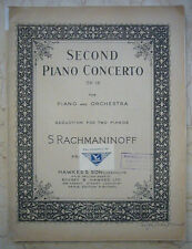 RACHMANINOFF SECOND PIANO CONCERTO OP. 18 REDUCTION FOR 2 PIANOS HAWKES BON ETAT