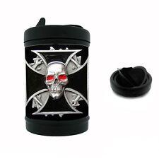 Black Metal Car Ashtray Skull Design-008