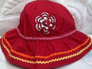 NEW GYMBOREE HAT w/ HANDMADE ROSE 3 6 MONTHS GIRLS BABY INFANT LADYBUG RED