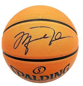 Michael Jordan Bulls Hand Signed Autograph NBA Spalding Basketball With COA