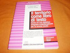 IL TERRITORIO COME LIBRO DI TESTO strumenti scuola media lisciani 1993