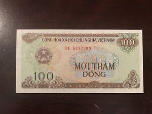 1991 Vietnam 100 Dong Banknote; Crisp, Uncirculated
