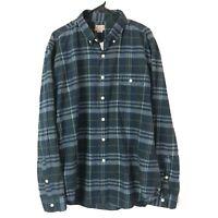 J Crew Madras Button Down Shirt Mens XL Blue Plaid Long Sleeve Cotton Brand New