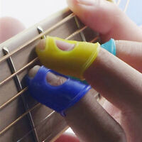 4Pcs Silicone Fingertip Thumb Picks Protector Finger Guard for Ukulele Guitar