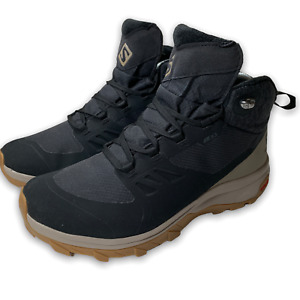 Salomon Outsnap CSWP Women's Hiking Boots Size 8 Black Waterproof