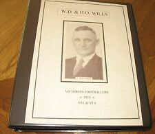W.D & H.O Wills Footballers 1933 Full set in album in VG condition