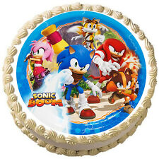 """Sonic Boom  Edible cake image Decoration Topper 8"""" Round"""