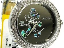 Invicta Disney Womens Limited Edition Crystal Accented Watch w/3 Slot Dive Case