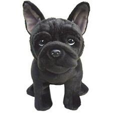 French Bulldog Stuffed Animal Black Dog Cute Soft Cuddly Toy Realistic Plush