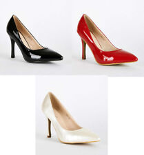 Court Synthetic Leather Wet look, Shiny Heels for Women