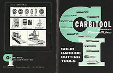Carbide Cutting Tools 1965 Catalog Carbitool Inc. Farmington Mi Drills Reamers