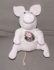 VTG APPLAUSE STUFFED PLUSH OFFICIAL MEMBER OF THE CLEAN PLATE CLUB PIG SHIRT
