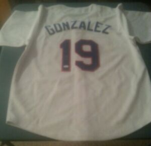 2016 Gold Rush Juan Gonzalez Signed Texas Rangers Jersey JSA Witnessed/Certified