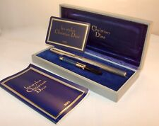 CHRISTIAN DIOR 925 STERLING SILVER FLUTED FOUNTAIN PEN- ORIGINAL BOX & PAPERWORK