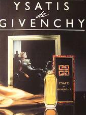 PUBLICITÉ 1986 YSATIS DE GIVENCHY PARIS - ADVERTISING