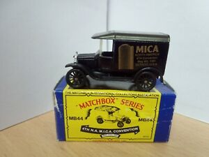 P118-MATCHBOX MICA 4TH N.A CONVENTION 2914 No44 1921 MODEL T FORD WITH BOX