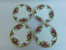 ROYAL ALBERT CHINA OLD COUNTRY ROSES BREAD BUTTER PLATES SET OF 4