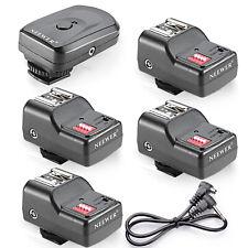 Neewer Set 1 Trigger & 4 Ricevitori Wireless per Flash Canon Nikon Neewer ecc.