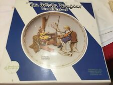 Norman Rockwell The Artists Daughter In Bas- Relief Collectors Plate Org.box.