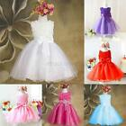 Toddler Girls 3D Flower Bowknot Tutu Skirt Princess Party Wedding Bow Dress E18