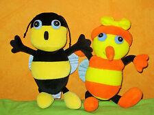 Peluche Drôles de petites bêtes MIREILLE l'abeille et le bourdon haut: 22cm