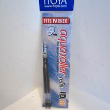Set of 12 Itoya Aqua Roller Refill, 1.0mm, BLACK (Itoya AQR10BK-BP) -6 x 2/pk