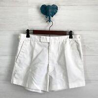 "VTG Le Tigre SZ 34 US 6 White Flat Front Trouser Walking Short Women 2.5"" Inseam"