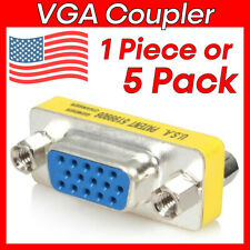 VGA Coupler Female to Female Adapter 15 Pin VGA Monitor Cable Gender Changer