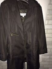 Marc New York Andrew Marc Trench Rain Coat Size Large Womens Brown Jacket