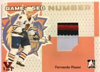 2006-07 ITG Heroes & Prospects Game-Used Number Fernando Pisani Vault Red 1/1