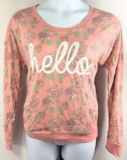 Womens Fifth Sun Pullover Floral Size XL Crewneck