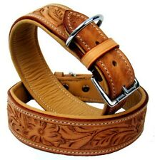 Leather Dog Collar Chico From Mad Dog DeLuxe SIZE S Beige