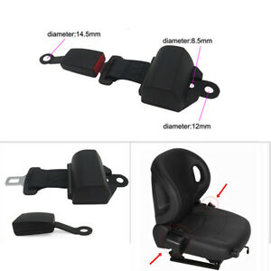 2 Pack Car Seat Belt Adjustable Harness Lead Retractor+ Buckle Auto Safety Kit