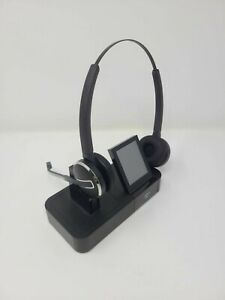 USED JABRA PRO 9465 DUO Headband Headsets - Black 9465-69-804-105 BLUETOOTH