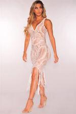 Sexy Women Summer Lace Tassels Short Evening Cocktail Party Beach Dress Sundress